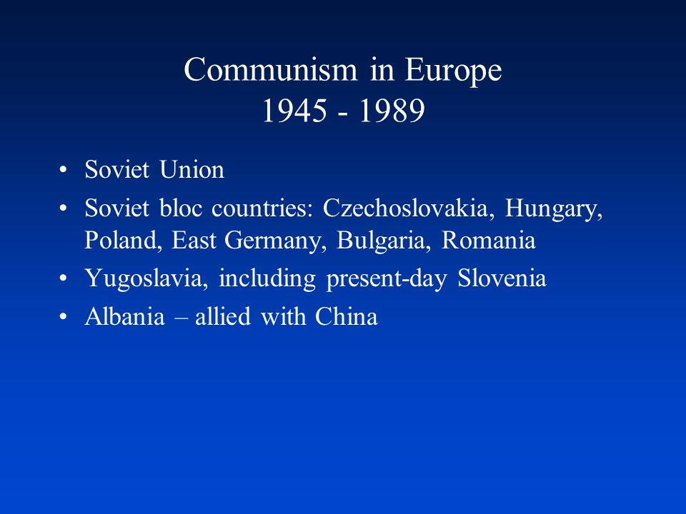 After Communism, What.