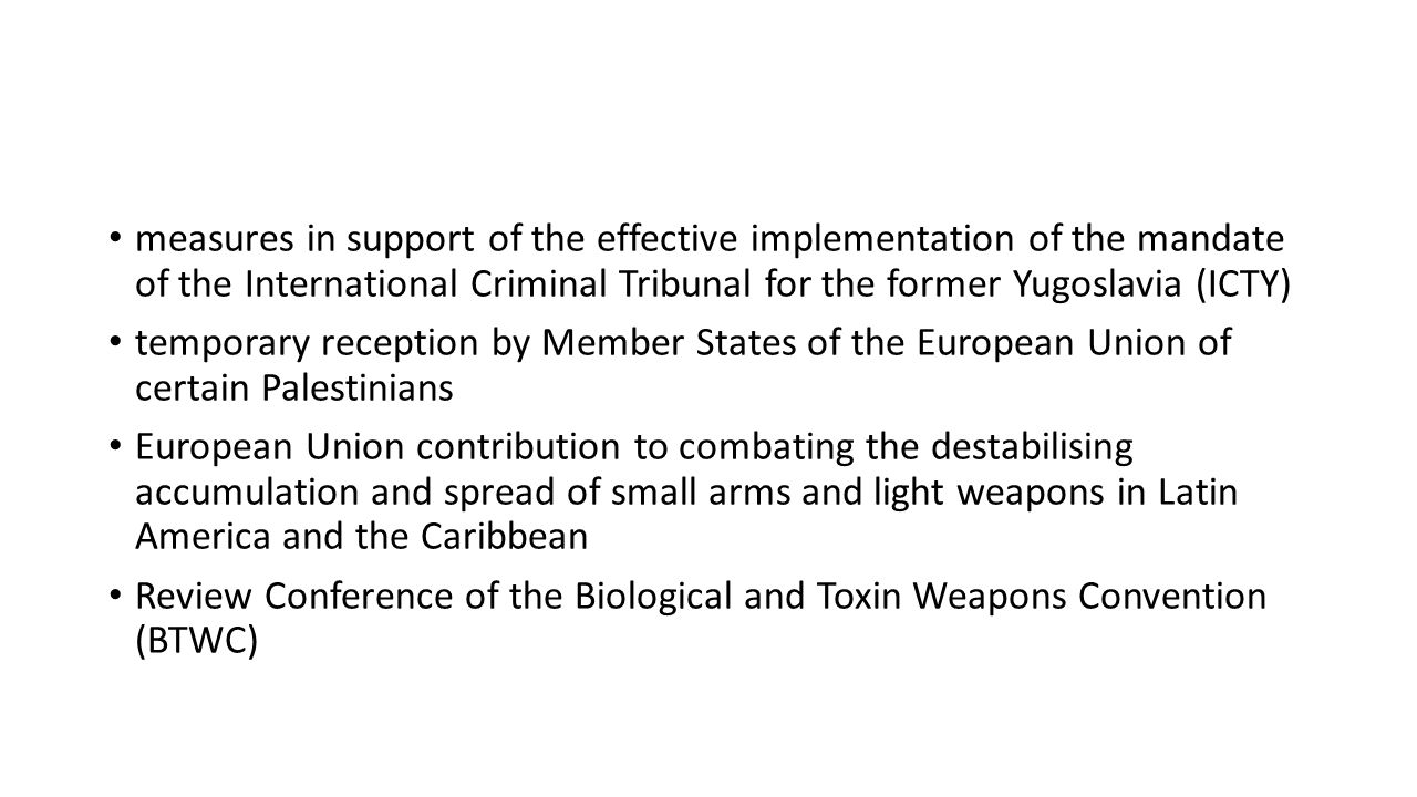 measures in support of the effective implementation of the mandate of the International Criminal Tribunal for the former Yugoslavia (ICTY) temporary r
