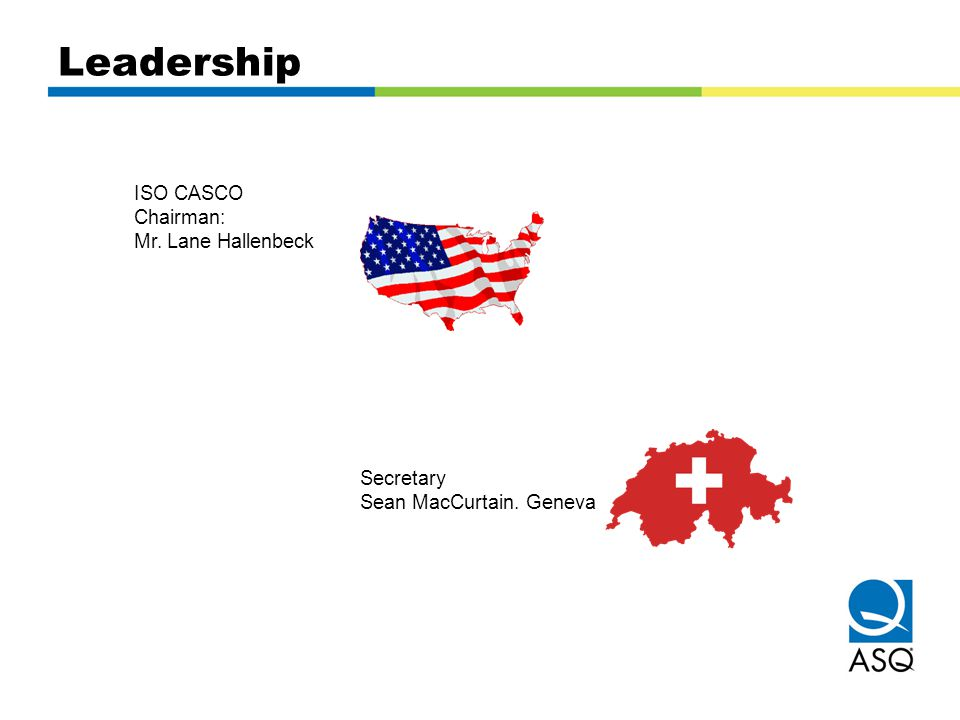 Leadership ISO CASCO Chairman: Mr. Lane Hallenbeck Secretary Sean MacCurtain. Geneva