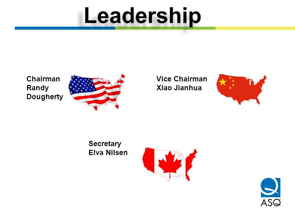 Leadership Chairman Randy Dougherty Vice Chairman Xiao Jianhua Secretary Elva Nilsen