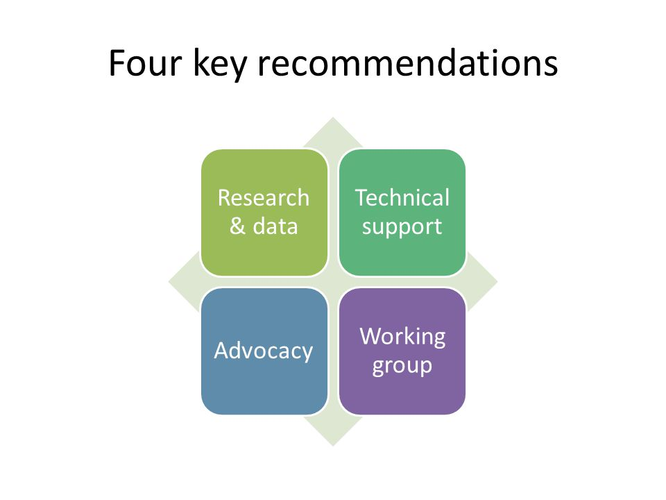 Four key recommendations