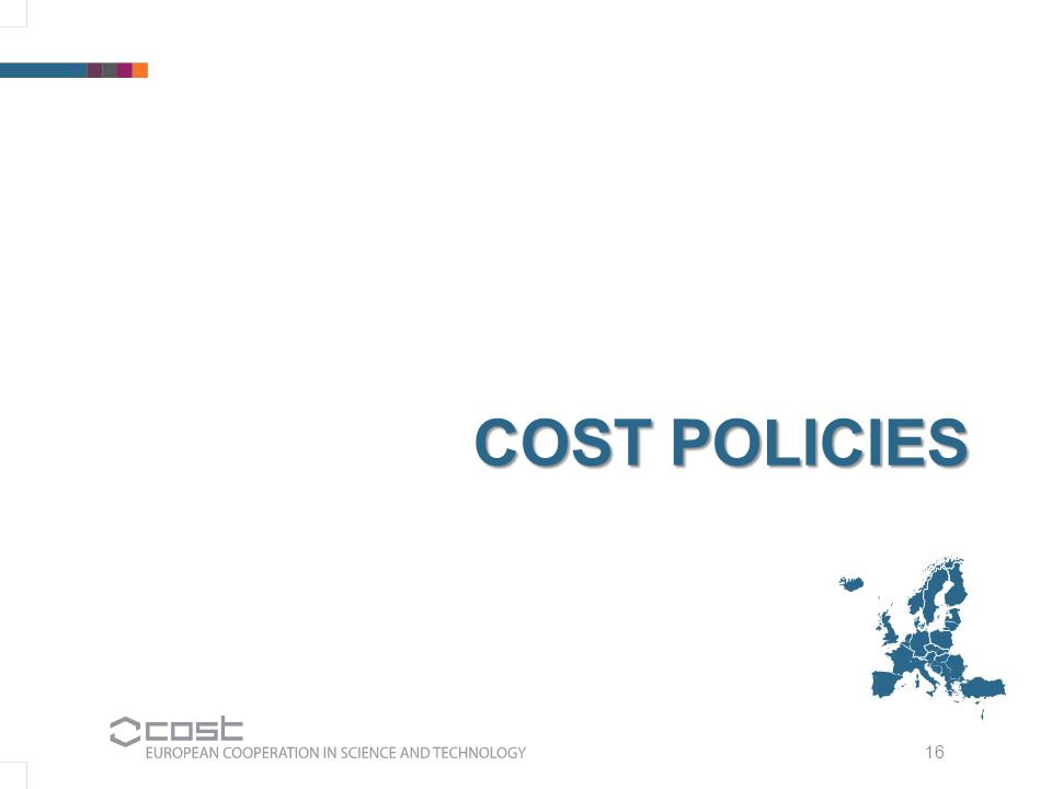 16 COST POLICIES