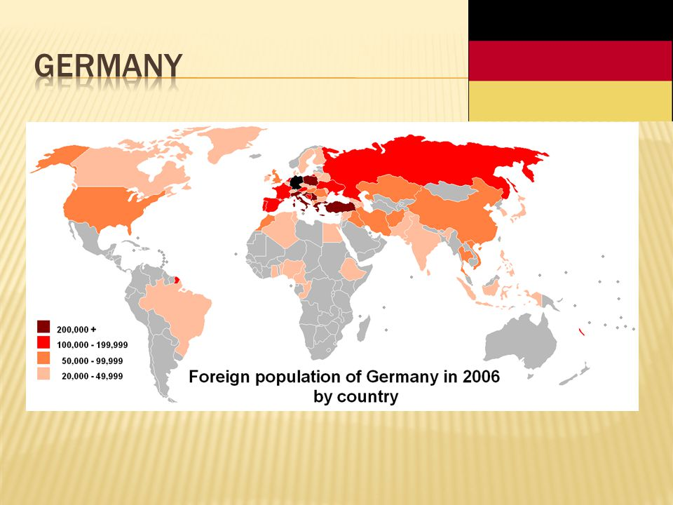 Since the post-World War II decades and especially the later 20th century, the German-speaking countries of Europe have reflected striking demographic changes resulting from decades of immigration.