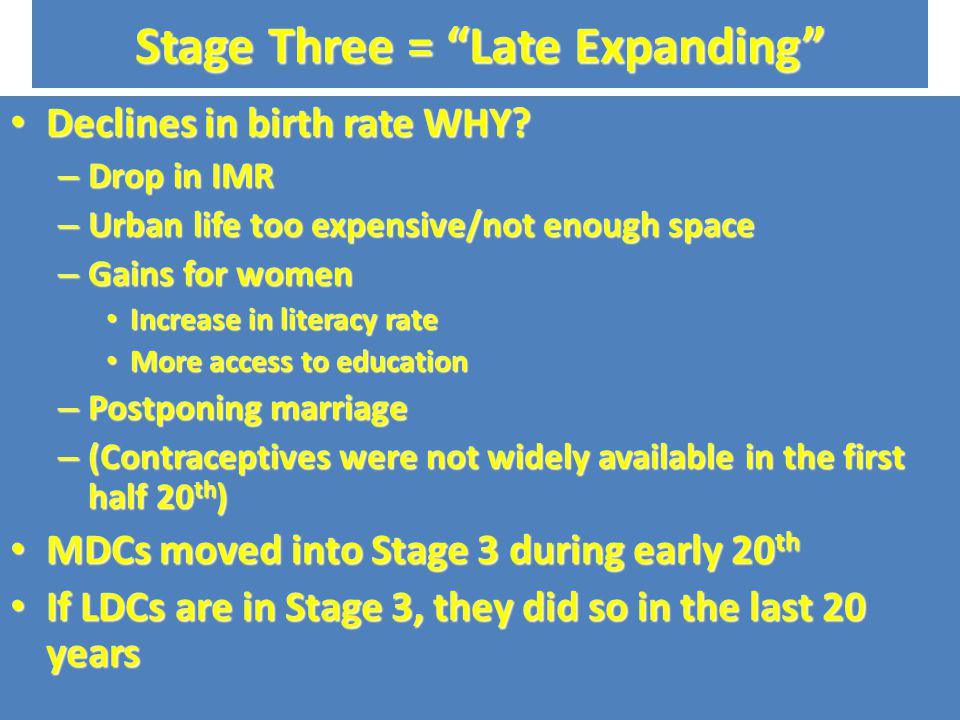 Stage Two = Early Expansion