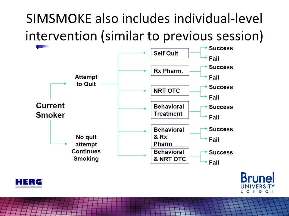 SIMSMOKE also includes individual-level intervention (similar to previous session)