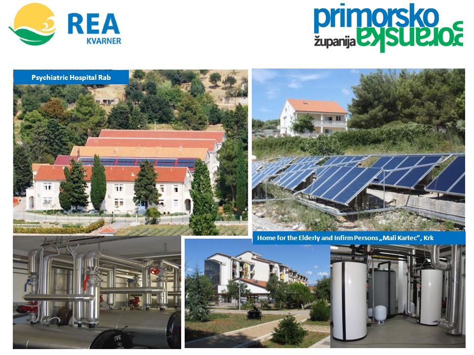 Public building of Primorje-Gorski Kotar County The project involves investment in photovoltaic power plants with capacity of 30 kW each, suited on the flat roofs of buildings owned by the local government.