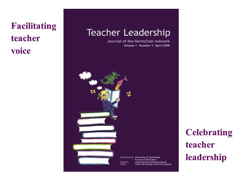 Facilitating teacher voice Celebrating teacher leadership