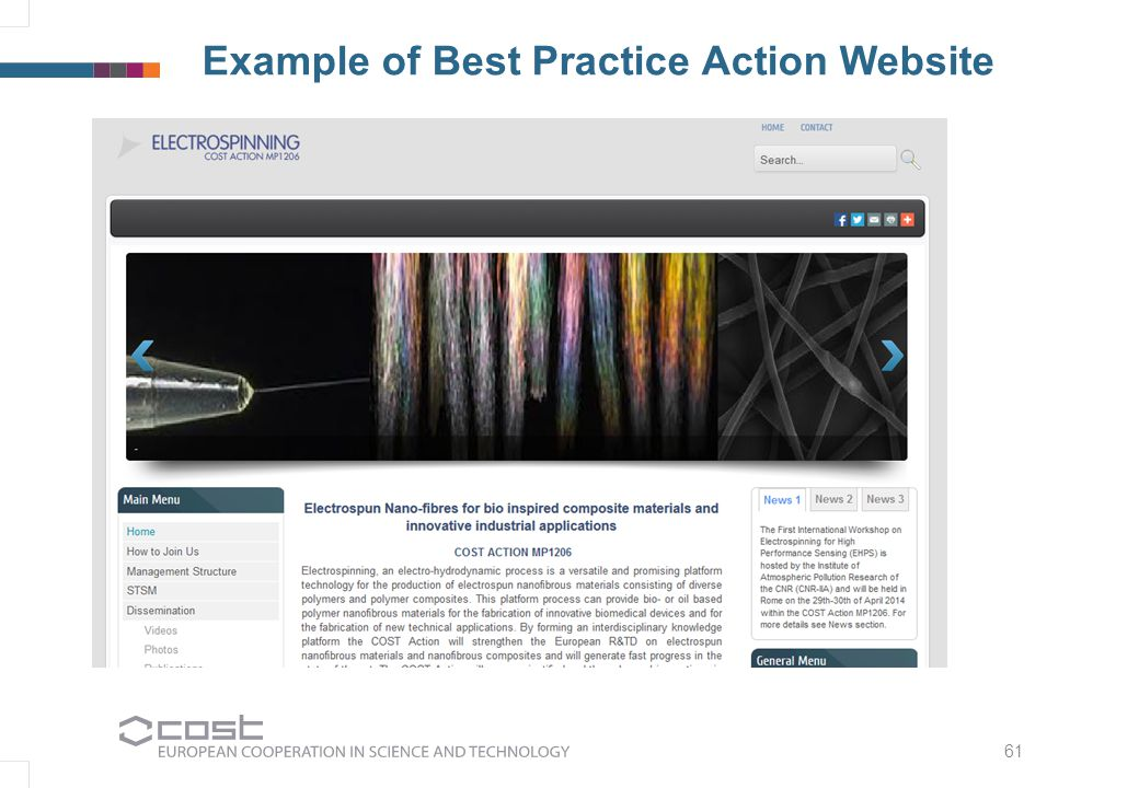 61 Example of Best Practice Action Website