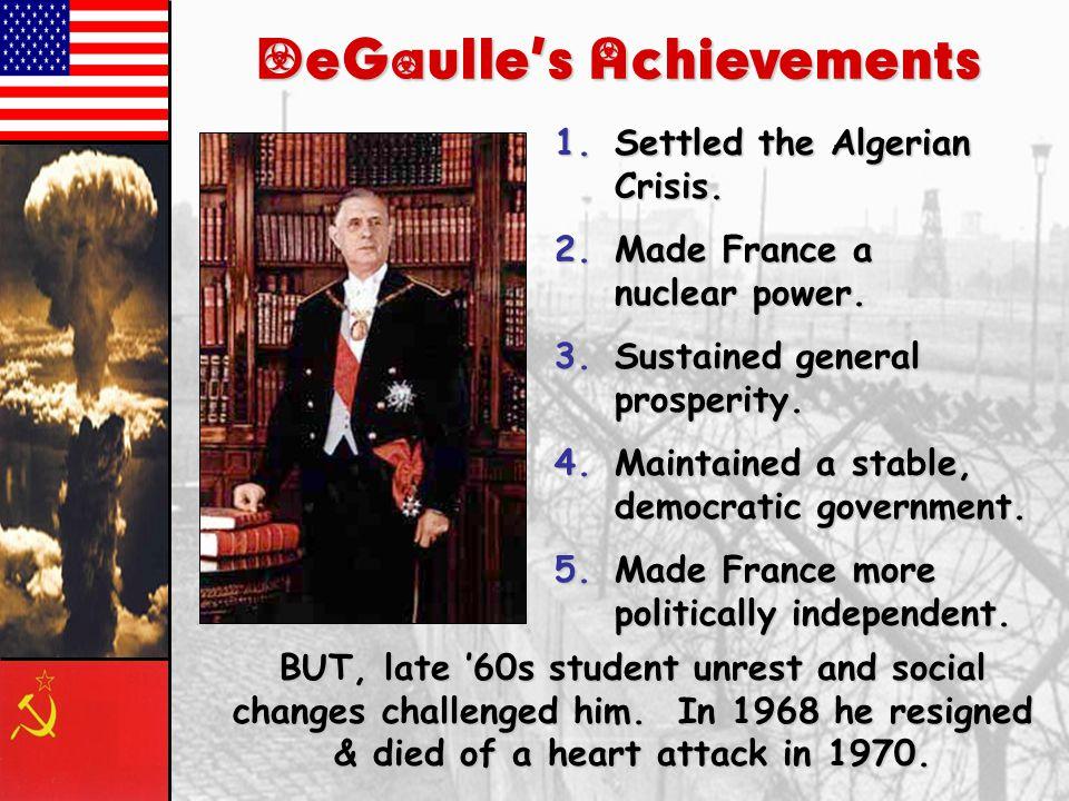 5 th French Republic (1958-Present) 1.Powerful President.
