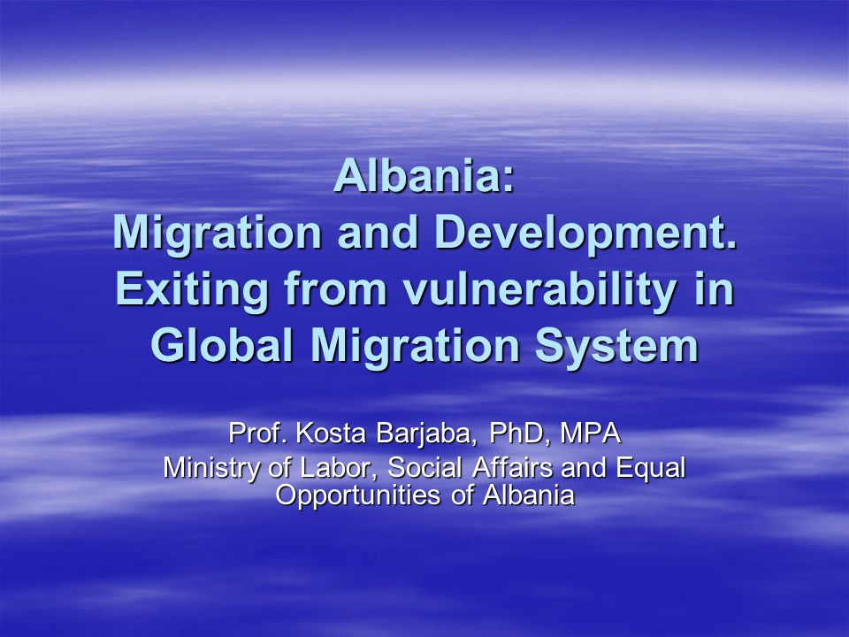 I. 12 top symptoms of Albanian migration in the global context