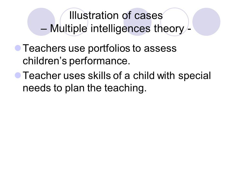 Teachers use portfolios to assess children's performance.