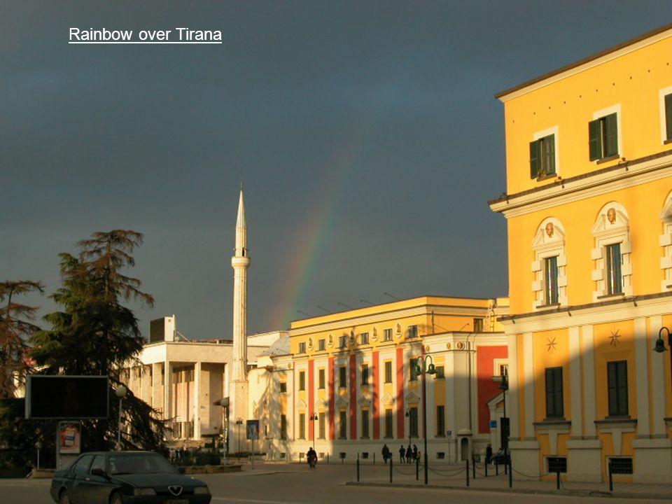 Rainbow over Tirana