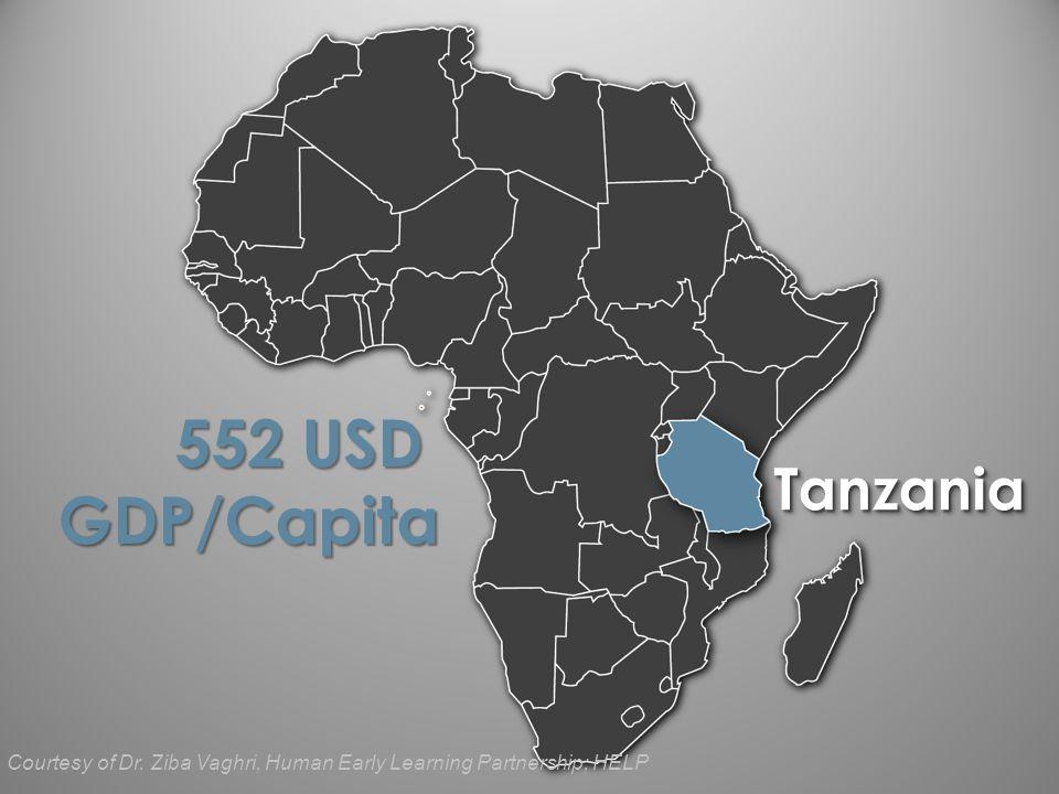 TanzaniaTanzania 552 USD GDP/Capita Courtesy of Dr.
