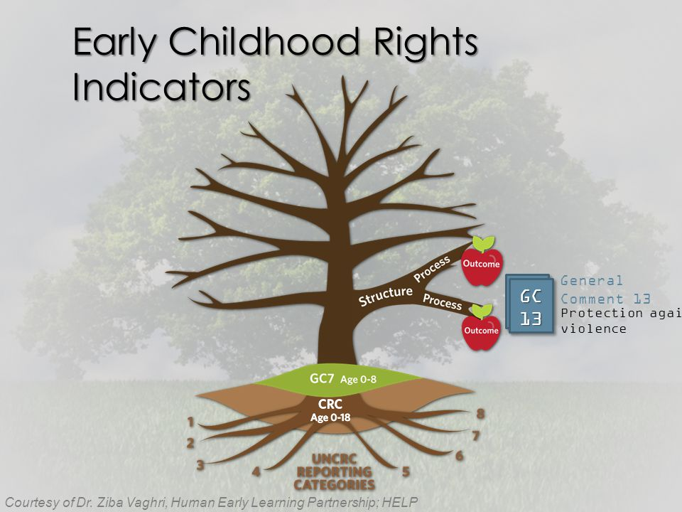 Early Childhood Rights Indicators Courtesy of Dr.