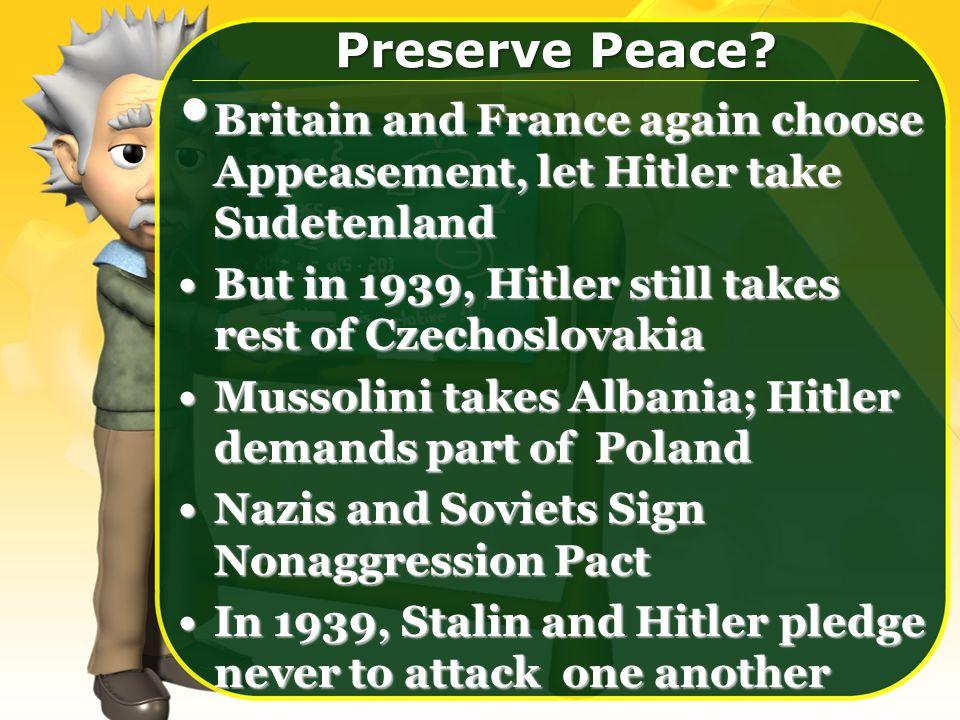 Preserve Peace.