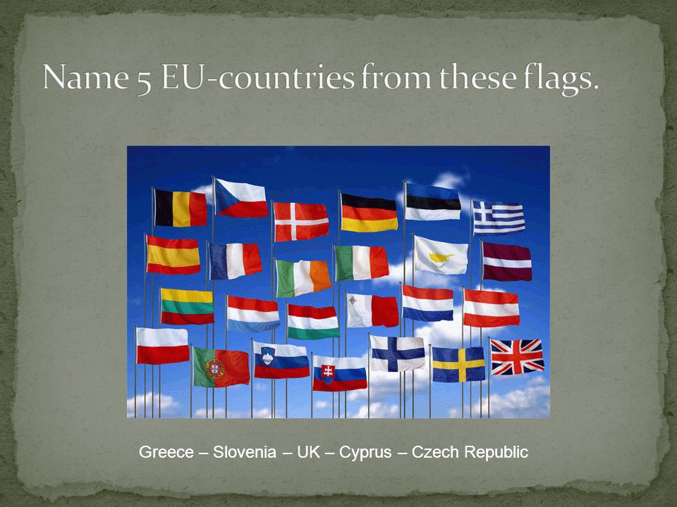 Greece – Slovenia – UK – Cyprus – Czech Republic