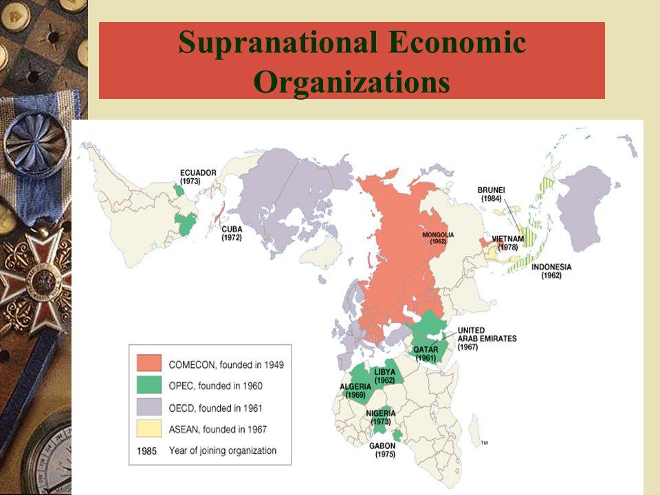 Supranational Economic Organizations