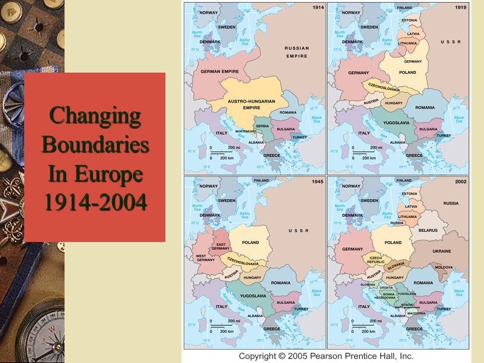 Changing Boundaries In Europe 1914-2004