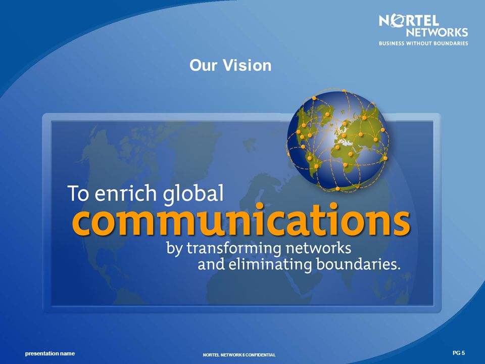 presentation name NORTEL NETWORKS CONFIDENTIAL PG 6 Our Strategy