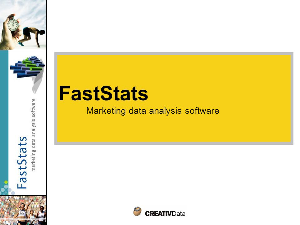 FastStats Marketing data analysis software