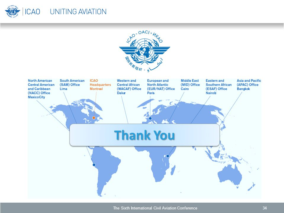 Thank You 34The Sixth International Civil Aviation Conference