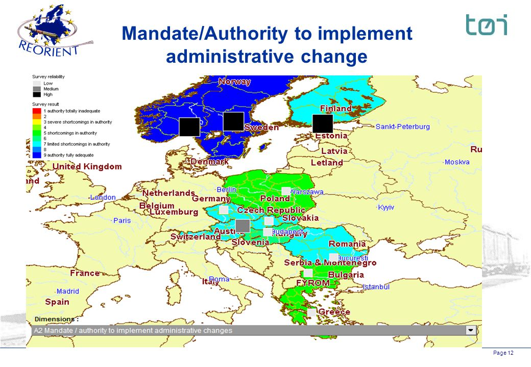 Page 12 Mandate/Authority to implement administrative change
