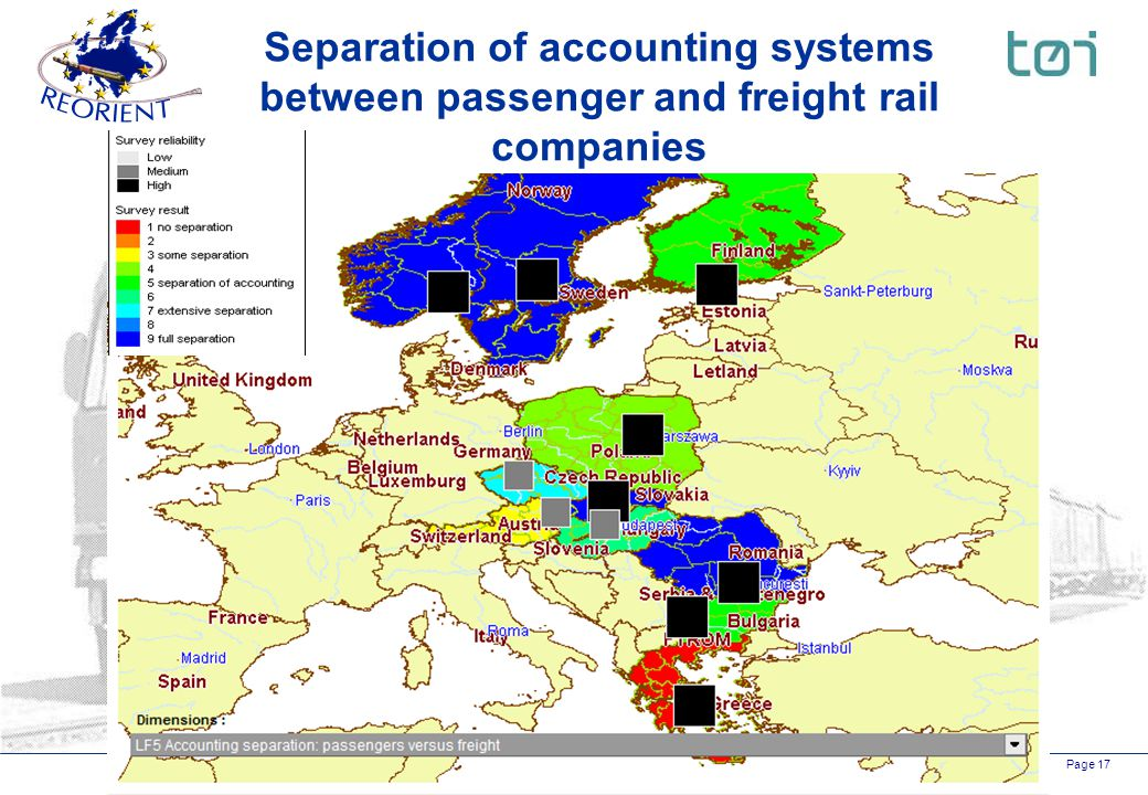 Page 17 Separation of accounting systems between passenger and freight rail companies