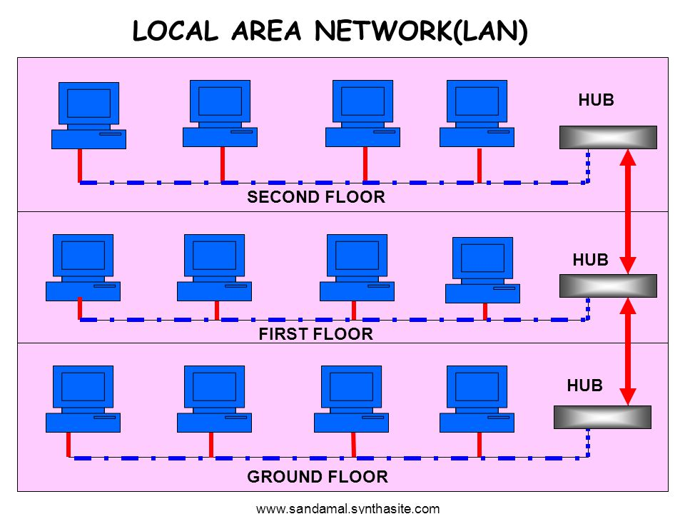 www.sandamal.synthasite.com 2 LOCAL AREA NETWORK(LAN) GROUND FLOOR FIRST FLOOR SECOND FLOOR HUB