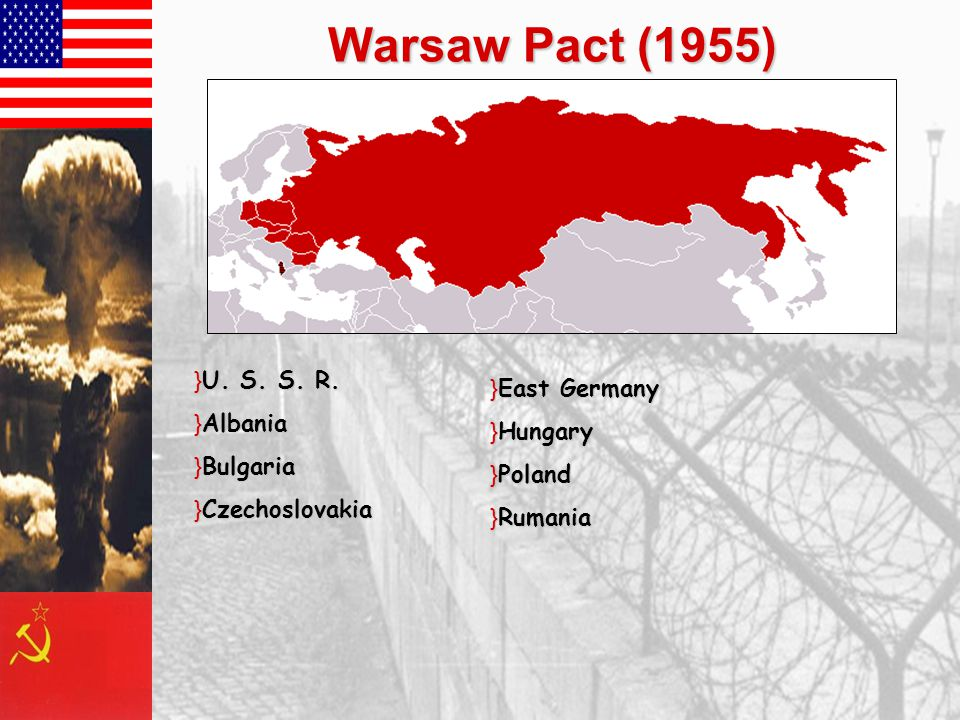 Warsaw Pact (1955) }U. S. S. R.