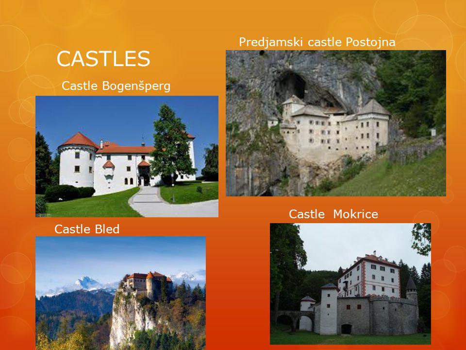 CASTLES Castle Bogenšperg Predjamski castle Postojna Castle Bled Castle Mokrice