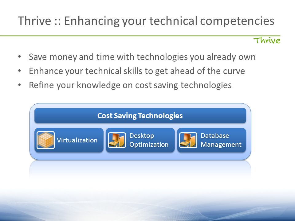 Save money and time with technologies you already own Enhance your technical skills to get ahead of the curve Refine your knowledge on cost saving tec