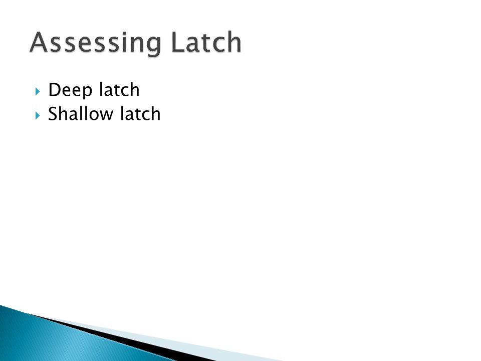  Deep latch  Shallow latch
