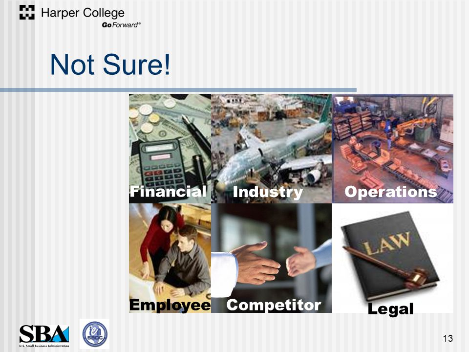 Not Sure! 13 Legal Operations Competitor Industry Employee Financial