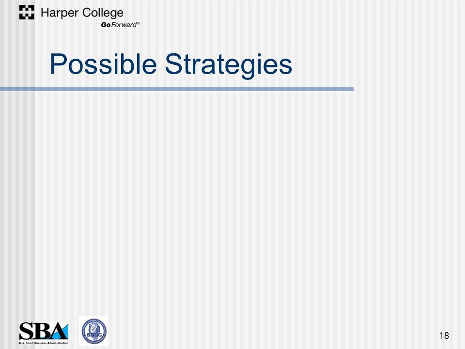 Possible Strategies 18