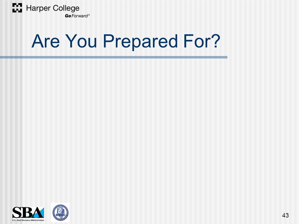 Are You Prepared For? 43