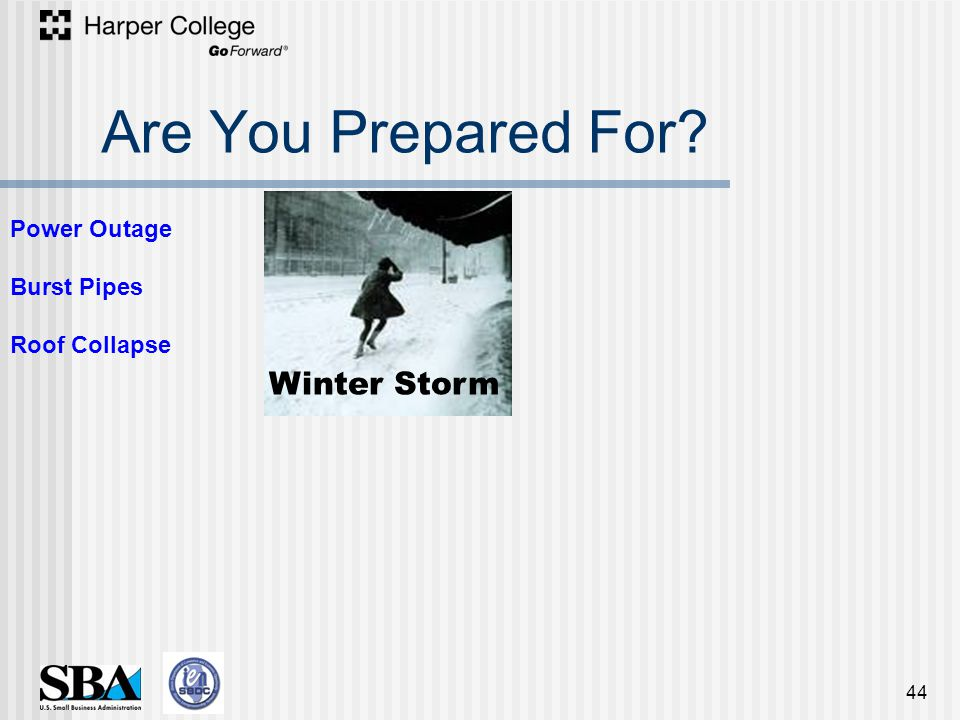 Are You Prepared For 44 Winter Storm Power Outage Burst Pipes Roof Collapse