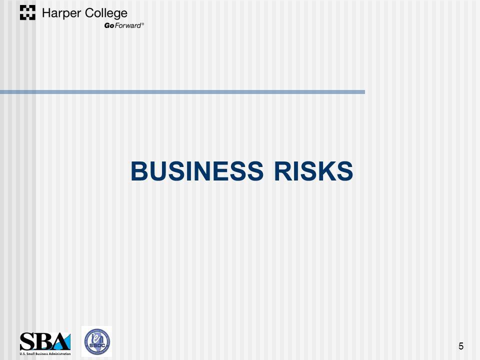 BUSINESS RISKS 5