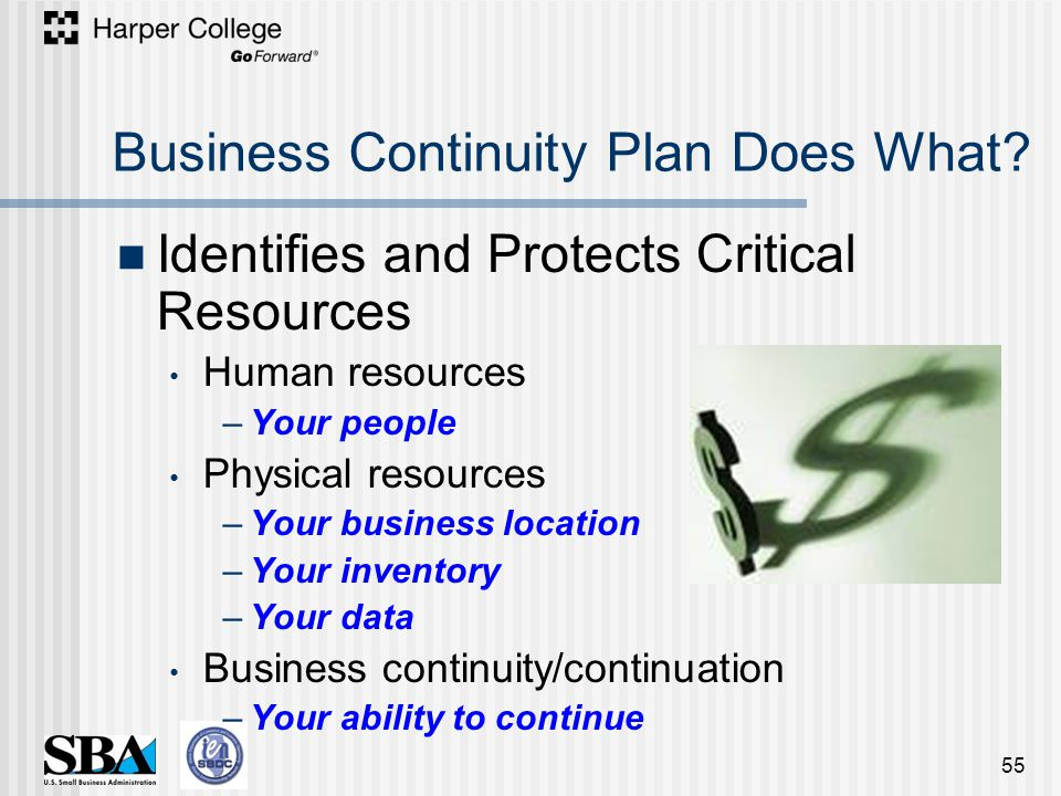 Business Continuity Plan Does What.