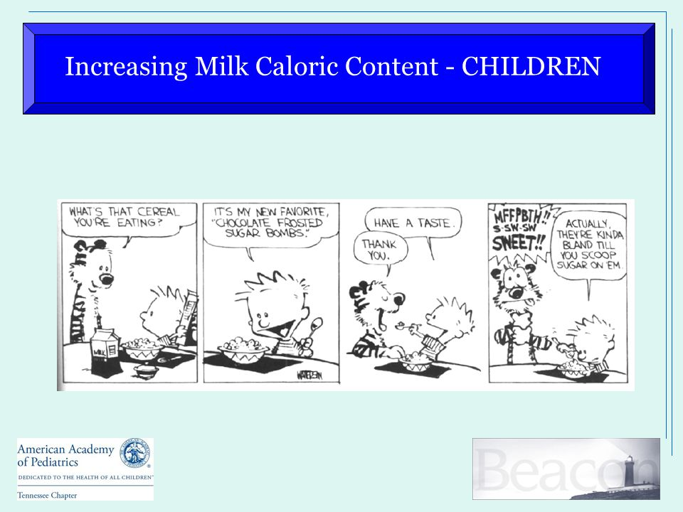 Increasing Milk Caloric Content - CHILDREN