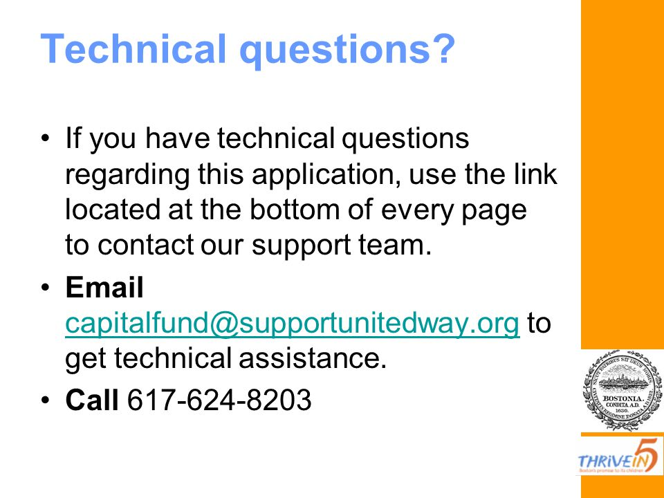 Technical questions.