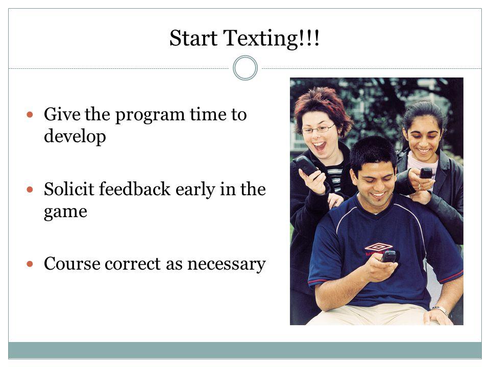 Start Texting!!.