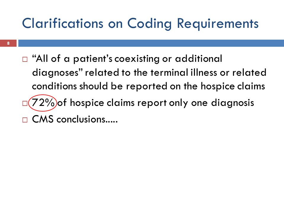 Case mix adjustment 29  Could be considered when more diagnosis data is available  Contingent on data gathering from multiple diagnoses on claim form
