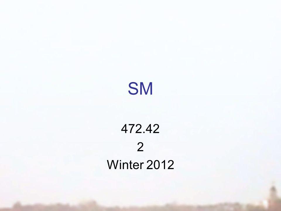 SM 472.42 2 Winter 2012