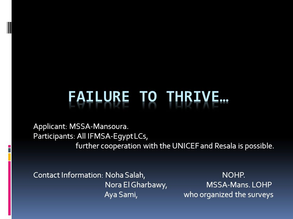 Applicant: MSSA-Mansoura.