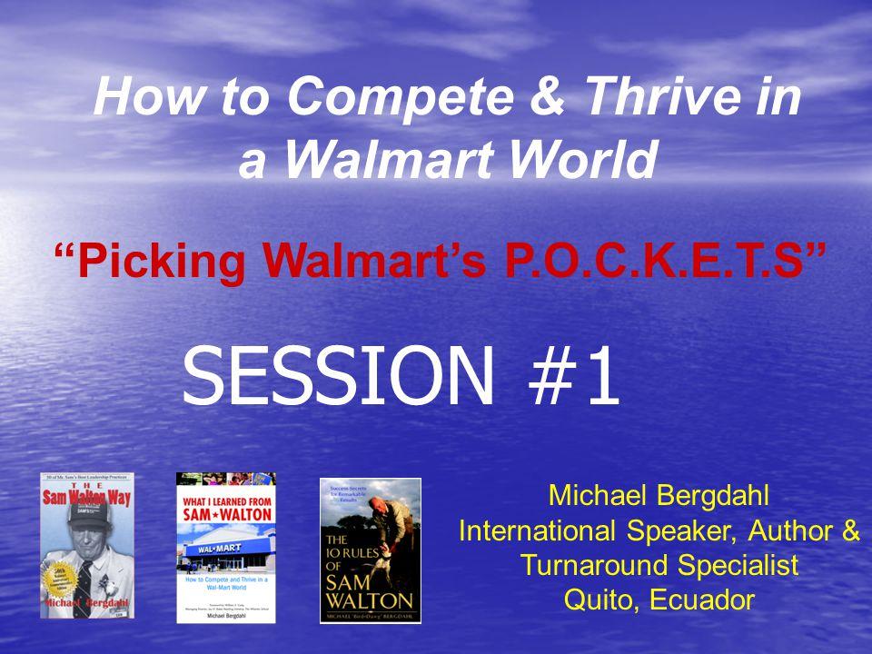 Walmart Sales in US$ Billions 20102011 % USA260264+1.5 USA260264+1.5 International109126+15.2 International109126+15.2 Sam's Club 49 54+8.8 Sam's Club 49 54+8.8 TOTAL418444+5.9 TOTAL418444+5.9 Sam Walton never wanted Walmart to be the biggest...
