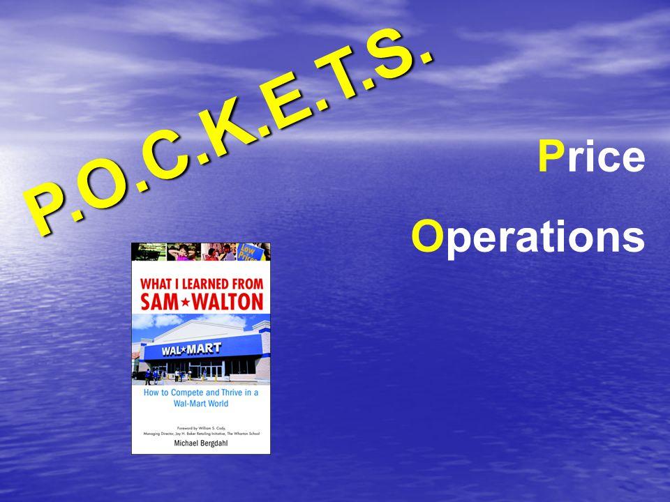 P.O.C.K.E.T.S. Price Operations