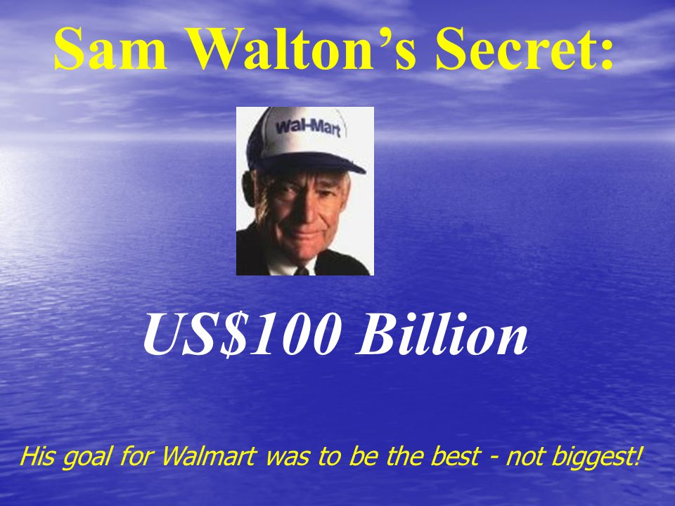 Create Competitive Pricing Advantage Walmart cuts out the middleman... Buys from the source!