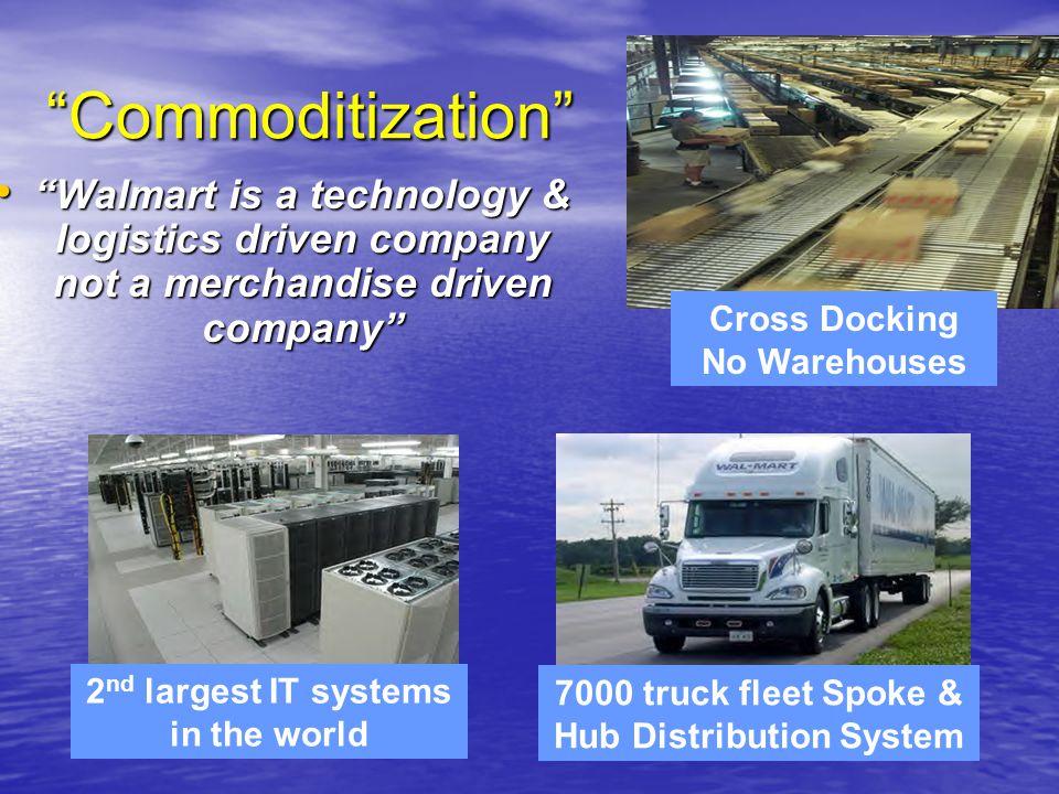 """Commoditization"" ""Walmart is a technology & logistics driven company not a merchandise driven company"" ""Walmart is a technology & logistics driven co"