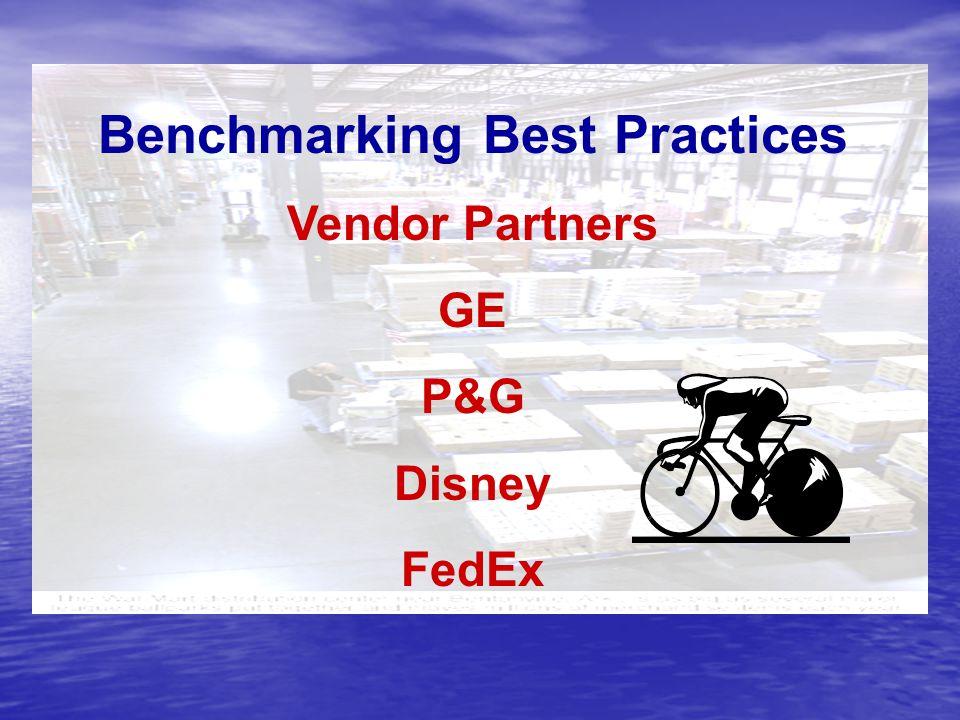 Benchmarking Best Practices Vendor Partners GE P&G Disney FedEx