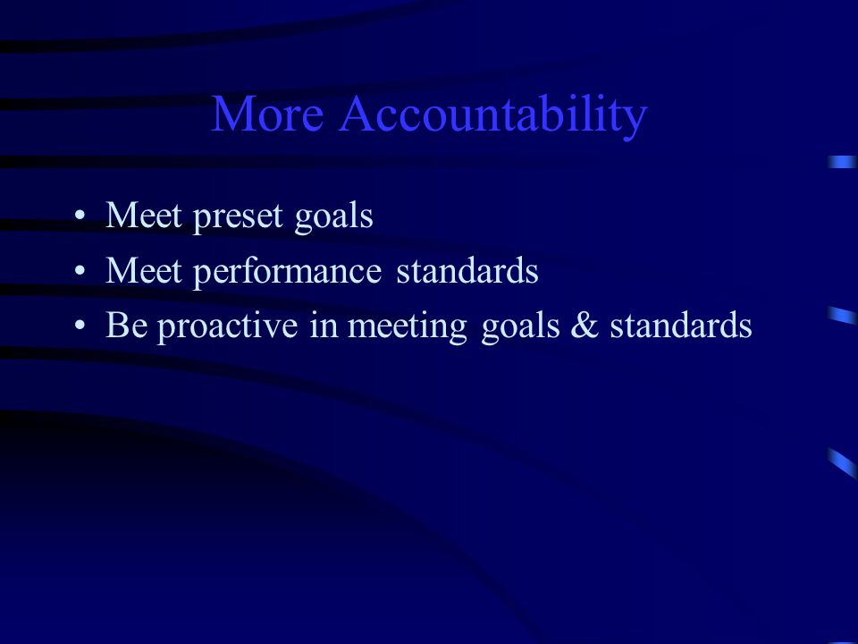 Each person in today's organization is: Accountable to the team Accountable to management Accountable to self